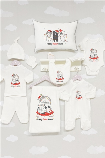 Organic 11 pcs Hospital Outfit - Christmas